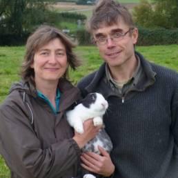 Isabelle et Bernard Abelleyt de la Ferme des 4 Chemins